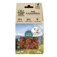 Wildes Land - Hundesnack - Fleischwürfel Rind (getreidefrei)