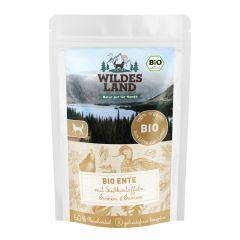Wildes Land - Nassfutter - Bio Ente mit Süßkartoffeln Pouch (getreidefrei)