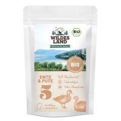 Wildes Land - Nassfutter - Bio Ente und Pute Pouch (getreidefrei)