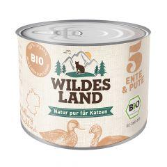 Wildes Land - Nassfutter - Bio Ente und Pute (getreidefrei)