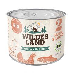 Wildes Land - Nassfutter - Bio Huhn und Lachs (getreidefrei)