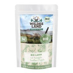Wildes Land - Nassfutter - Bio Lamm mit Kartoffeln Pouch (getreidefrei)