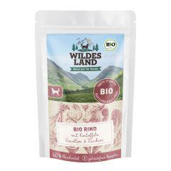 Wildes Land - Nassfutter - Bio Rind mit Kartoffeln Pouch (getreidefrei)
