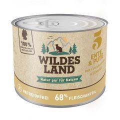Wildes Land - Nassfutter - Ente und Pute mit Distelöl 200g (getreidefrei)