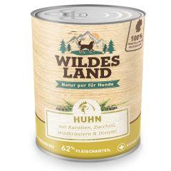 Wildes Land - Nassfutter - Huhn mit Karotten, Zucchini, Wildkräutern und Distelöl 6 x 800g (getreidefrei)
