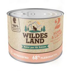 Wildes Land - Nassfutter - Huhn und Lachs mit Distelöl (getreidefrei)