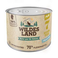Wildes Land - Nassfutter - Kitten Huhn PUR mit Distelöl 200g (getreidefrei)