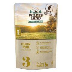 Wildes Land - Nassfutter - Huhn PUR mit Distelöl Pouch (getreidefrei)