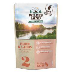 Wildes Land - Nassfutter - Huhn und Lachs mit Distelöl Pouch (getreidefrei)