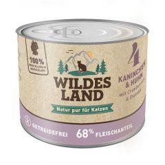 Wildes Land - Nassfutter - Kaninchen und Huhn mit Distelöl 200g (getreidefrei)