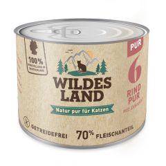 Wildes Land - Nassfutter - Rind PUR mit Distelöl (getreidefrei)