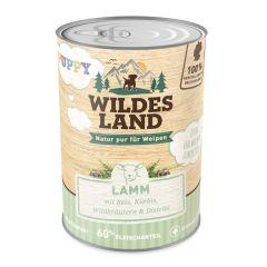 Wildes Land - Nassfutter - Puppy Lamm mit Reis, Kürbis und Wildkräutern (glutenfrei)