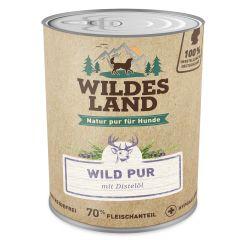 Wildes Land - Nassfutter - Wild PUR mit Distelöl 6 x 800g (getreidefrei)