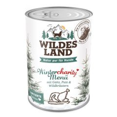 Wildes Land - Nassfutter - Wintercharity Menü mit Gans, Pute und Wildkräutern (getreidefrei)