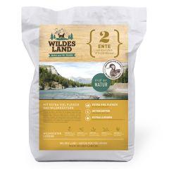 Wildes Land - Trockenfutter - Ente mit Kartoffeln und Wildkräutern Futterprobe 70g (getreidefrei)