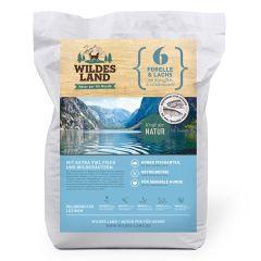 Wildes Land - Trockenfutter - Forelle und Lachs mit Kartoffeln und Wildkräutern (getreidefrei)
