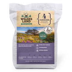 Wildes Land - Trockenfutter - Kaninchen mit Kartoffeln und Wildkräutern (getreidefrei)