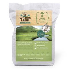 Wildes Land - Trockenfutter - Lamm und Lachs mit Kartoffeln und Wildkräutern 12kg (getreidefrei)