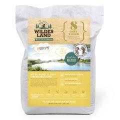 Wildes Land - Trockenfutter - Puppy Ente und Huhn mit Kartoffeln und Wildkräutern (getreidefrei)