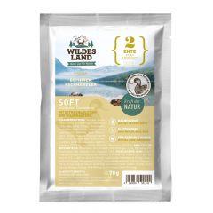 Wildes Land - Trockenfutter - Soft Ente mit Reis und Wildkräutern 70g (glutenfrei)
