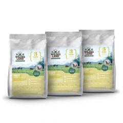 Wildes Land - Trockenfutter - Soft Vorteilspaket Huhn mit Reis und Wildkräutern 3 x 5kg