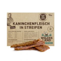 Wildes Land - Kausnack - Kaninchenfleisch in Streifen (getreidefrei)