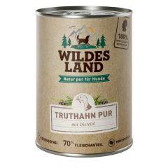 Wildes Land - Nassfutter - Truthahn PUR mit Distelöl (getreidefrei)