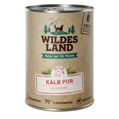 Wildes Land - Nassfutter - Kalb PUR mit Distelöl (getreidefrei)
