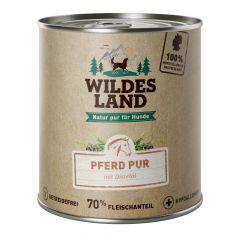 Wildes Land - Nassfutter - Pferd PUR mit Distelöl 6 x 800g (getreidefrei)