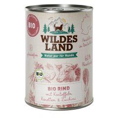 Wildes Land - Nassfutter - Bio Rind mit Kartoffeln 6 x 400g (getreidefrei)
