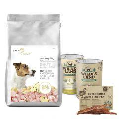 pets Premium - Hundefutter - Probe Paket mit 1,5kg Soft Trockenfutter und  2 x 400g Nassfutter + Snack 70g