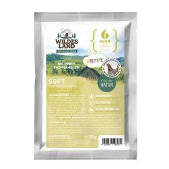 Wildes Land - Trockenfutter - Soft Puppy Huhn mit Reis und Wildkräutern 70g (glutenfrei)