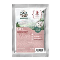 Wildes Land - Trockenfutter - Soft Rind mit Reis und Wildkräutern 70g (glutenfrei)