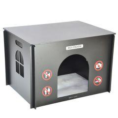 Wolters - Hunde- und Katzenzubehör - Replus Secret Service Heimtier-WC schwarz