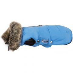 Wolters - Hundebekleidung - Hundemantel Parka mit Fellkragen für Mops & Co. riverside blue