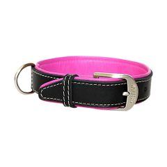Wolters - Hundehalsband - Terranova Bioleder schwarz/himbeer