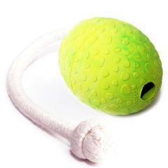 Wolters - Hundespielzeug - Straußen-Ei am Seil mint