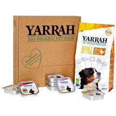 Yarrah - Hundefutter - Probierpaket Trockenfutter Bio Huhn Adult + Nassfutter Bio Paté