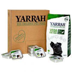 Yarrah - Hundefutter - Probierpaket Trockenfutter Bio Vega + Nassfutter Bio Bröckchen Vega