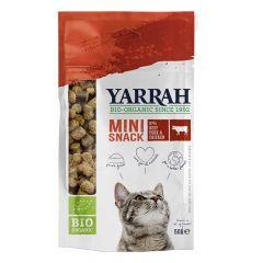 Für Katzen - Yarrah - Katzensnack - Bio Mini Snacks mit Rind, Schwein & Huhn 50g