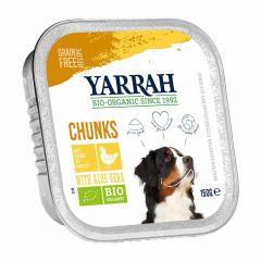 Yarrah - Nassfutter - Bio Bröckchen mit Huhn & Aloe Vera (getreidefrei)