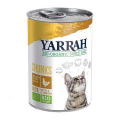 Yarrah - Nassfutter - Bio Bröckchen mit Huhn, Brennnessel & Tomate