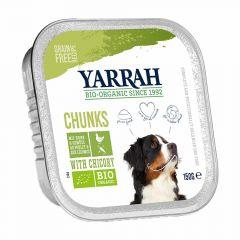 Yarrah - Nassfutter - Bio Bröckchen mit Huhn & Chicorée (getreidefrei)