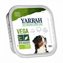 Yarrah - Nassfutter - Bio Bröckchen Vega mit Hagebutten (getreidefrei)