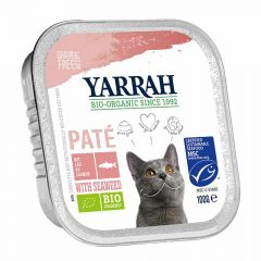 Yarrah - Nassfutter -  Bio Paté mit Lachs & Meeresalge (getreidefrei)