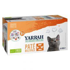 Yarrah - Nassfutter - Bio Paté Multipack für Katzen (getreidefrei)