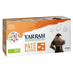 Yarrah - Nassfutter - Bio Paté Multipack für Hunde (getreidefrei)
