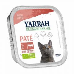 Yarrah - Nassfutter - Bio Paté mit Rind & Chicorée (getreidefrei)