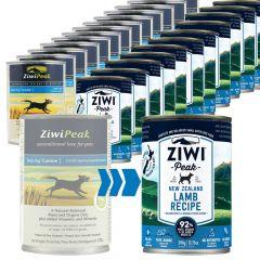 Ziwi Peak - Nassfutter - Wechsel-Paket Lamb Daily Dog Cuisine 12 x 370g und Canned Dog Food 12 x 390g (getreidefrei)