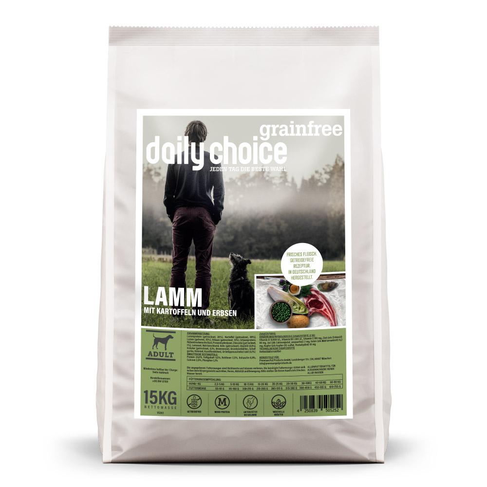 15kg, getreidefreies Hundefutter, Lamm, Trockenfutter, daily choice